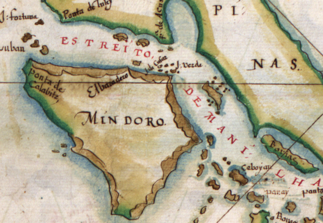 "Selection from João Teixeira Albernaz I, ""Taboas geraes de toda a navegaçaõ,"" 1630 (Library of Congress, Geography and Map Division, Washington, D.C.)"