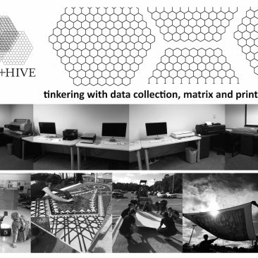 Hub + Hive: tinkering with data collection, matrix and printmaking